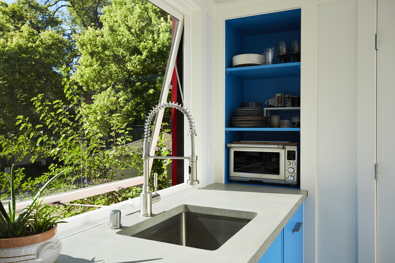 The kitchenette in Eric Tollefson's 400-square-foot accessory dwelling